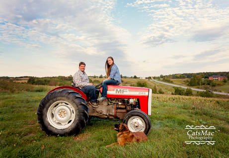 engagement session red tractor