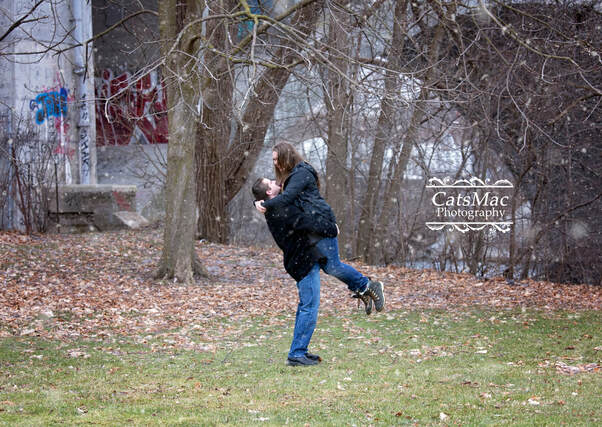 Otonabee River Trees engagement photo