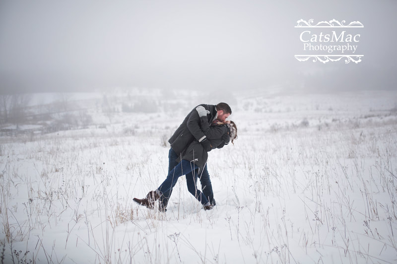 Winter outside Engagement Photography Photo session Peterborough CatsMac