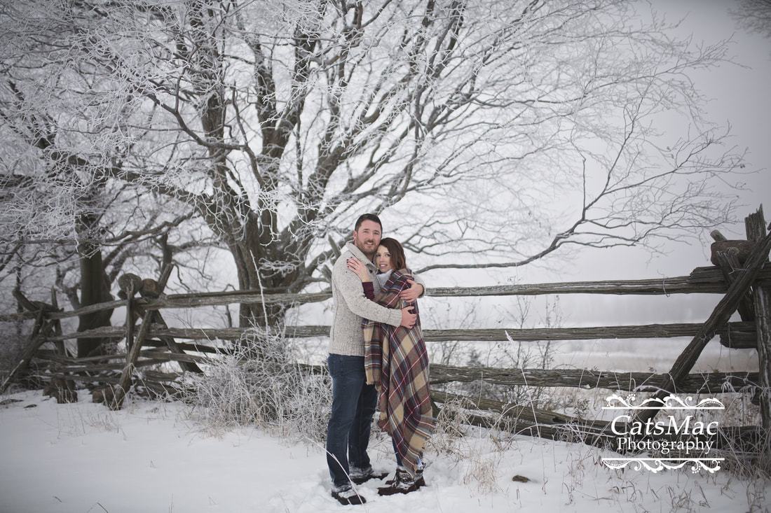 Engagement session snow winter