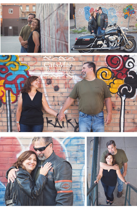 Engagement Photo Motorcycle
