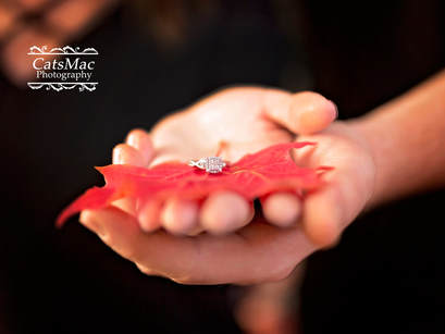 Fall Maple Leaf Engagement Ring