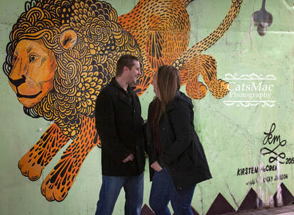 Street Art Engagement Shoot Hunter St. Bridge Peterborough